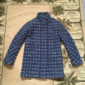 Jcrew City coat blue tweed 0
